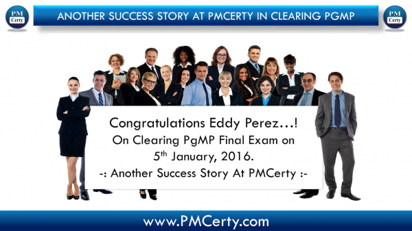 Congratulations Eddy on Clearing PgMP..!