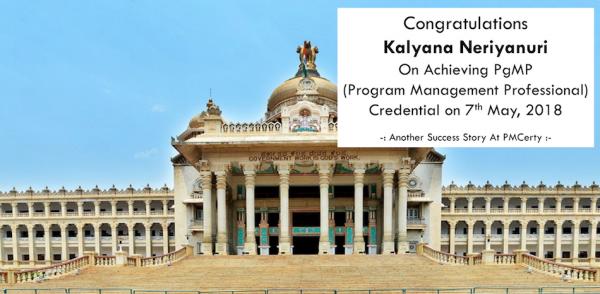 Congratulations Kalyana on Achieving PgMP..!