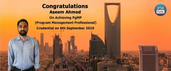 Congratulations Aseem on Achieving PgMP..!