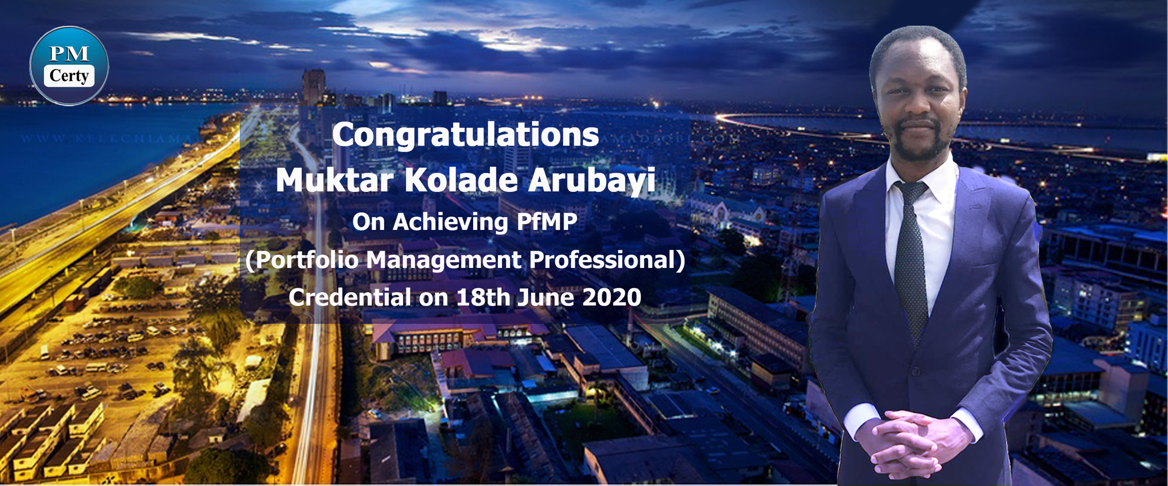 Congratulations Muktar on Achieving PfMP..!