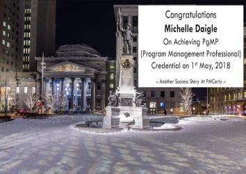 Congratulations Michelle on Achieving PgMP..!