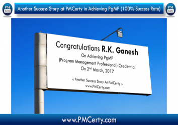 Congratulations Ganesh on Achieving PgMP..!