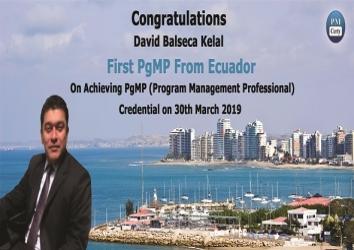 Congratulations David on Achieving PgMP ..!