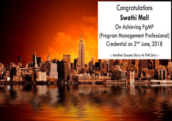 Congratulations Swathi on Achieving PgMP..!