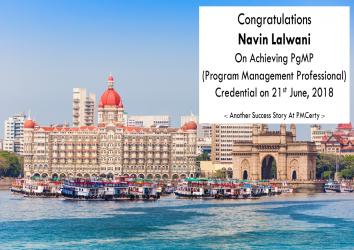 Congratulations Navin on Achieving PgMP..!