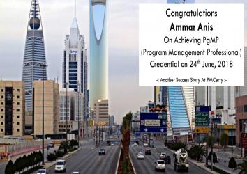 Congratulations Ammar on Achieving PgMP..!