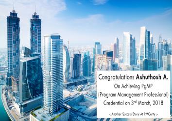 Congratulations Ashuthosh on Achieving PgMP..!
