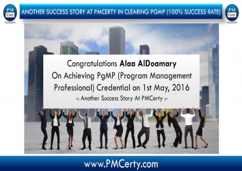 Congratulations Alaa On Achieving PgMP..!