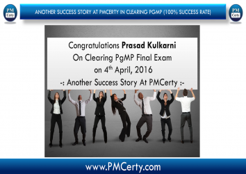 Congratulations Prasad On Achieving PgMP..!