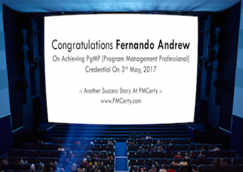 Congratulations Fernando on Achieving PgMP..!