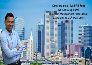 Congratulations Syed on Achieving PgMP..!