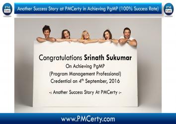 Congratulations Srinath on Achieving PgMP..!