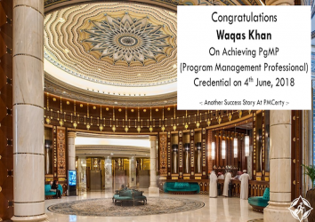 Congratulations Waqas on Achieving PgMP..!