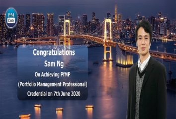Congratulations Sam on Achieving PfMP..!
