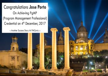 Congratulations Jose on Achieving PgMP..!