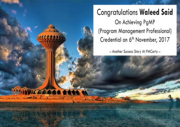 Congratulations Waleed on Achieving PgMP..!