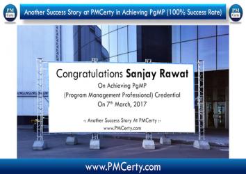 Congratulations Sanjay on Achieving PgMP..!