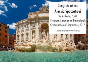 Congratulations Alessia on Achieving PgMP..!