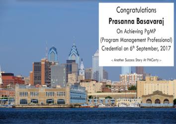 Congratulations Prasanna on Achieving PgMP..!