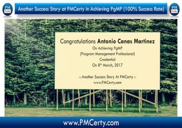 Congratulations Antonio on Achieving PgMP...!