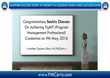 Congratulations Sachin On Achieving PgMP..!