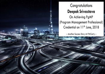Congratulations Deepak on Achieving PgMP..!