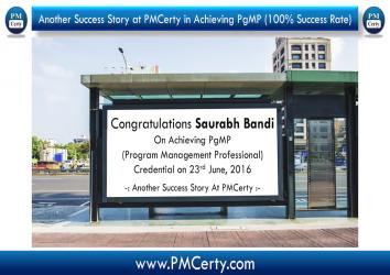 Congratulations Saurabh Bandi On Achieving PgMP..!