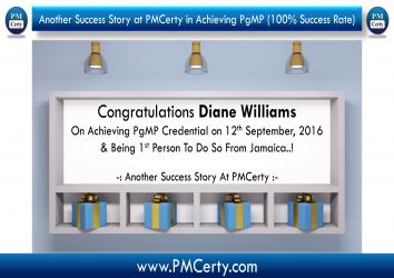 Congratulations Diane on Achieving PgMP..!