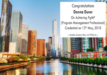 Congratulations Donna on Achieving PgMP..!
