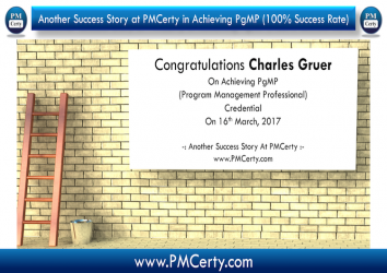 Congratulations Charles On Achieving PgMP..!