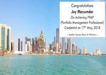 Congratulations Joy on Achieving PfMP..!