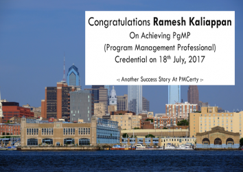 Congratulations Ramesh on Achieving PgMP..!