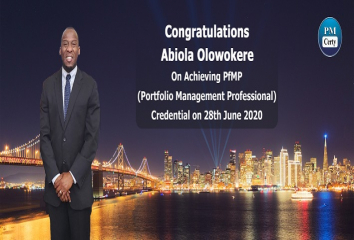 Congratulations Abiola on Achieving PfMP..!