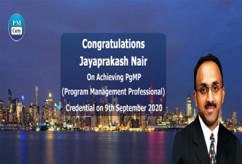 Congratulations Jay on Achieving PgMP..!