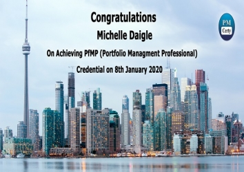 Congratulations Michelle on Achieving PfMP..!