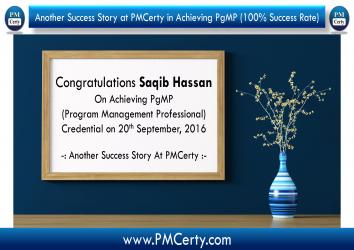 Congratulations Saqib on Achieving PgMP..!