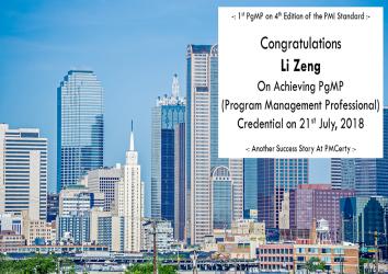 Congratulations Li on Achieving PgMP..!