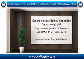 Congratulations Rajeev On Achieving PgMP...!