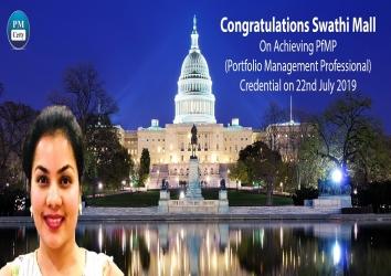 Congratulations Swathi On Achieving PfMP..!