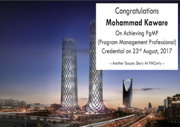 Congratulations Mohammad on Achieving PgMP..!