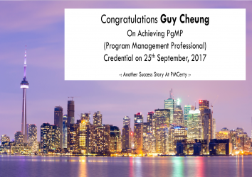 Congratulations Guy on Achieving PgMP..!