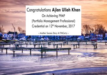 Congratulations Ajlan on Achieving PfMP..!