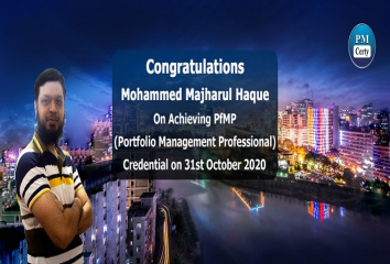 Congratulations Mohammed on Achieving PfMP