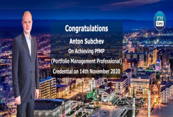 Congratulations Anton on Achieving PfMP..!