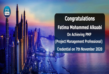 Congratulations Fatima on Achieving PMP..!