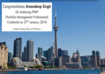 Congratulations Amandeep on Achieving PfMP..!