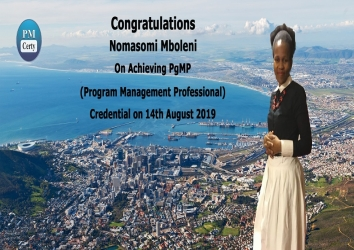 Congratulations Nomasomi on Achieving PgMP..!
