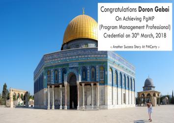 Congratulations Doron on Achieving PgMP..!
