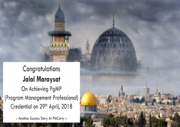 Congratulations Jalal on Achieving PgMP..!