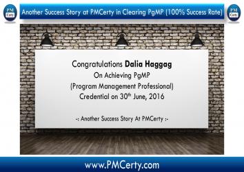 Congratulations Dalia Haggag On Achieving PgMP..!